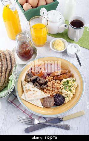 Petit-déjeuner en Irlande du Nord ulster fry Banque D'Images