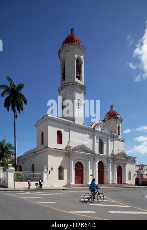 Catedral de la Purisima Concepcion à Parque Jose Marti, la cathédrale, du centre historique de la ville, Cienfuegos, Banque D'Images