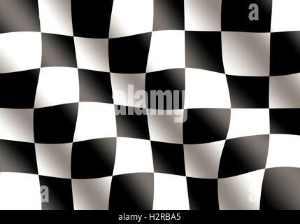 Noir et blanc de brandir le drapeau de course Banque D'Images