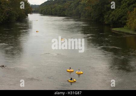 Le flexible à la James River en Virginie Banque D'Images