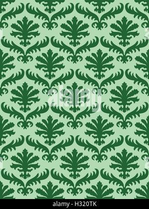 Coloré vecteur florale damassé motif de fond. La couleur tendance. Luxe élégant pour la texture, et p Banque D'Images