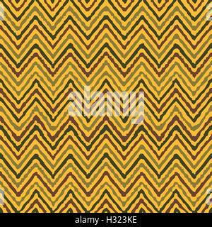 Dessin à la main motif ethnique géométrique en zigzag vecteur coloré transparente Banque D'Images