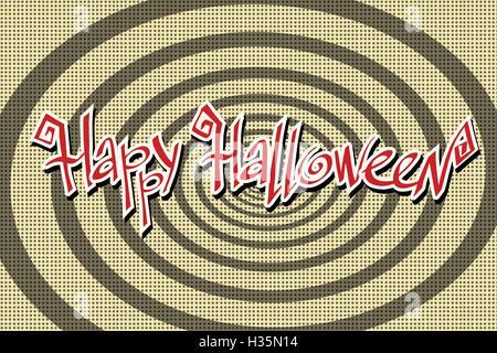 Happy Halloween rétro arrière Banque D'Images