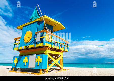 Lifeguard Tower, Miami Beach, Floride Banque D'Images
