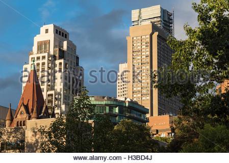 Toronto, Canada, les vieux bâtiments de l'architecture victorienne dans la capitale de la province de l'Ontario. Banque D'Images