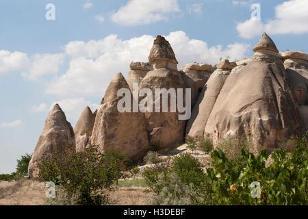 Magnifique vue de la vallée en Cappadoce Banque D'Images