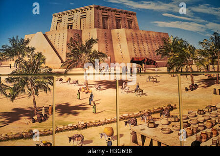 L'Iran, Téhéran, Musée National d'Iran, Susa, peinture Banque D'Images
