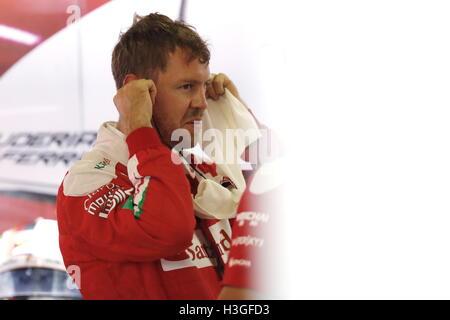 Suzuka, au Japon. 8 octobre 2016. Sebastian Vettel (GER) F1: Grand Prix du Japon à Suzuka Circuit dans Suzuka, Japon . Credit: Sho Tamura/AFLO SPORT/Alamy Live News