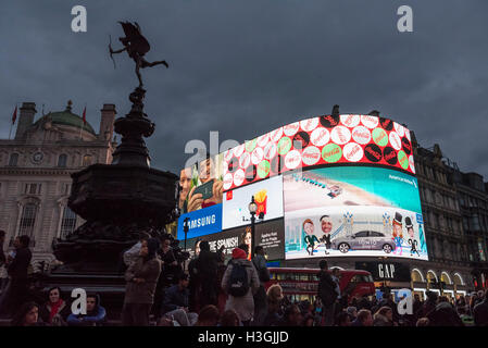 Londres, Royaume-Uni. 8 octobre, 2016. Land Securities, propriétaire de la Piccadilly Circus site depuis les années Banque D'Images