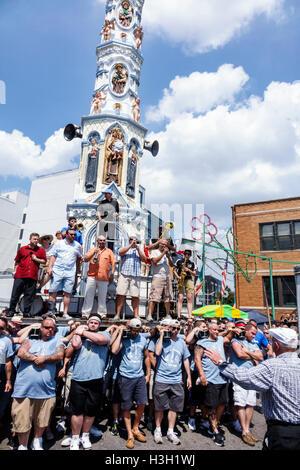 New York, NY, NYC, New York City, Brooklyn, Williamsburg, quartier italien, notre Dame du Mont Carmel Fête, festival religieux, foire de rue, t