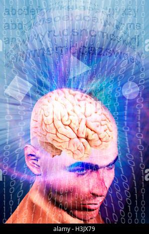 Concept de formation de cerveau en ligne Banque D'Images