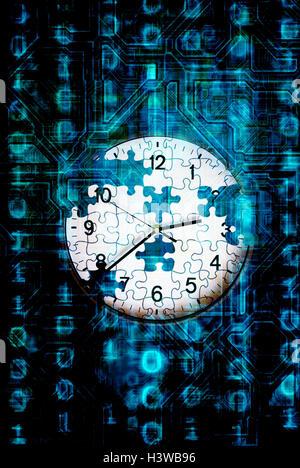 Casser un code contre le temps concept Banque D'Images