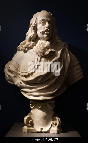 Buste en marbre de Cosme III de Médicis, Grand-duc de Toscane Banque D'Images