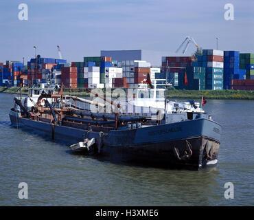 Les Pays-Bas, Rotterdam, l'Europoort, bassin du port, drague, Hollande, Südholland, port, Europort, zone de stockage, Banque D'Images