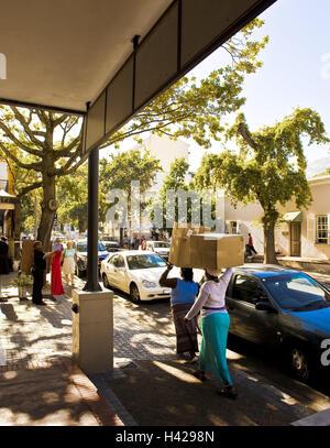 L'Afrique du Sud, Western Cape, Stellenbosch, le paysage urbain, les piétons, Banque D'Images
