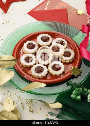 Les cookies sur la plaque, Hilda Banque D'Images