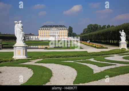 L'Allemagne, en Rhénanie du Nord-Westphalie, Brühl, Augustusburg (château), patrimoine mondial de l'UNESCO,