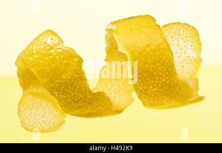 Le zeste de citron, fruits, pelées, studio, Stilllife, nourriture, Banque D'Images