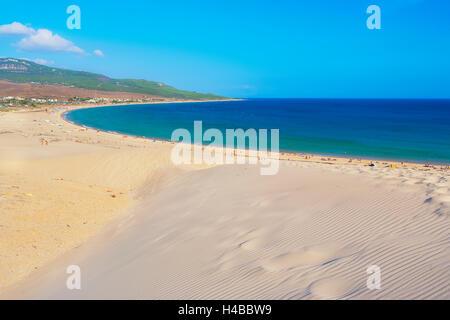 Plage de Bolonia et dune de sable, Bolonia, Province de Cadix, Costa de la Luz, Andalousie, Espagne