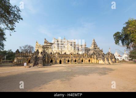 Maha Aungmye Bonzan monastery, également connu sous le nom de Kyuang Ok, Inwa, Mandalay, Myanmar Banque D'Images