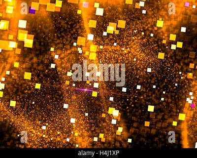 Bokeh Abstract fractal - image générée numériquement Banque D'Images