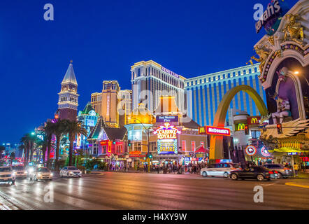 Vue sur le Strip à Las Vegas Banque D'Images