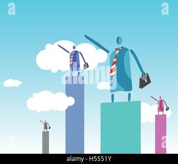 Leader et gagner Concept Design. Banque D'Images