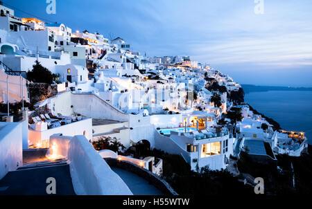 Coucher de soleil de Santorin - Cyclades - Grèce Banque D'Images