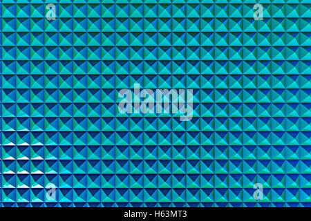 Résumé motif géométrique des pyramides bleues, rendu 3D Banque D'Images