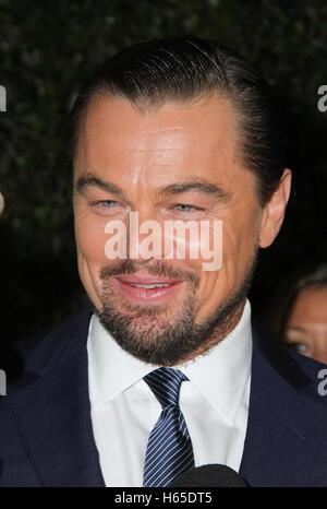 Los Angeles, CA, USA. 24 Oct, 2016. Leonardo DiCaprio assiste à la projection de National Geographic Channel's 'avant Banque D'Images