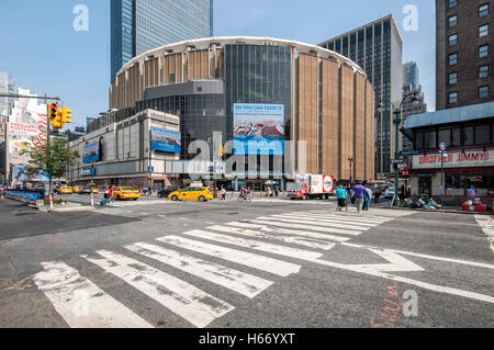 Madison Square Garden sur la 8e Avenue et West 31st Street, Manhattan, New York City Banque D'Images