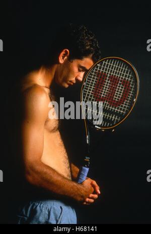 Portrait de Pete Sampras, 1995 Banque D'Images