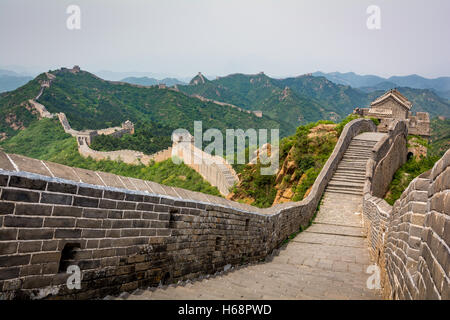 Grande Muraille de Chine, Beijing Banque D'Images