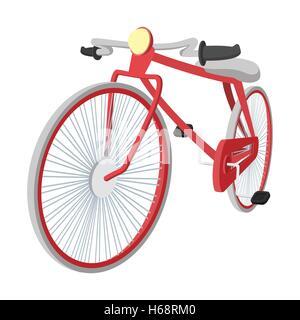 L'icône cartoon vintage bike Hipster Banque D'Images