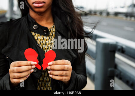 La douleur d'amour déçu dépressif mal Concept cassée Banque D'Images