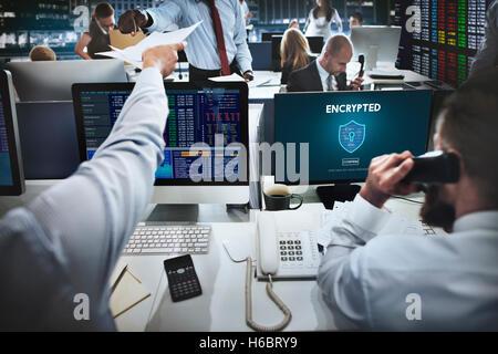 Les données chiffrées de la sécurité en ligne Confidentialité Protection Concept Banque D'Images