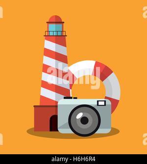 Phare de voyages et tourisme concept Banque D'Images