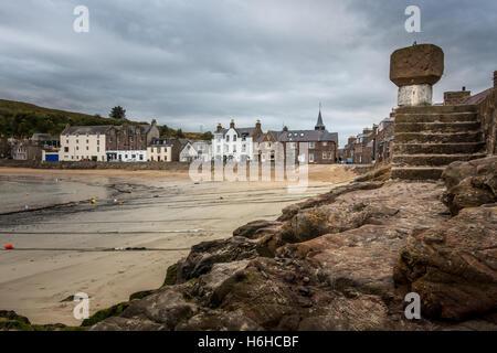 La plage et le port de Stonehaven, Aberdeenshire, Scotland Banque D'Images