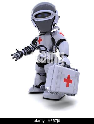 Médecin praticien médical médecin infirmier de santé en médecine moderne médical électronique modernité futuriste Banque D'Images