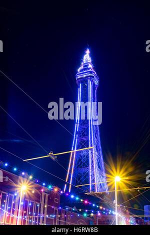 Blackpool, Lancashire, Royaume-Uni. 1er novembre 2016. Le Lightpool, Blackpool Festival du vendredi 28 octobre au Banque D'Images