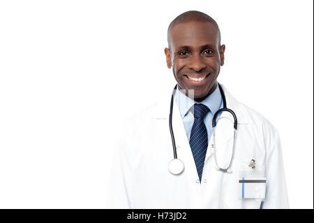 Médecin Médecin praticien médical infirmier carrière couronnée de succès guy santé emploi médicinal isolé american Banque D'Images
