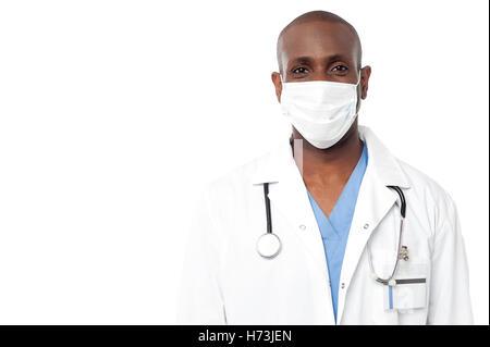 Médecin Médecin praticien médical infirmier carrière couronnée de succès guy unique emploi médicinal isolé american Banque D'Images