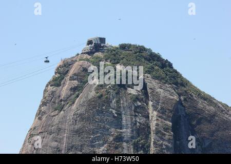 Rio de Janeiro, Brésil, novembre 02, 2016: le Pain de Sucre, l'un des principaux sites touristiques de Rio vu du Banque D'Images