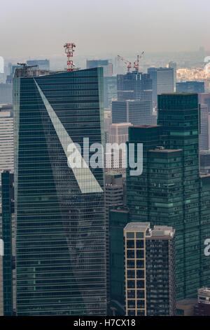 Gros plan du Tour de Tokyo avec forme spéciale. Banque D'Images