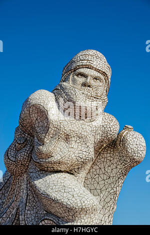 Le Scott Monument commémoratif de l'Antarctique dans la baie de Cardiff, le monument est apparue dans une mosaïque Banque D'Images
