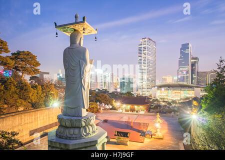 Bongeunsa Temple dans le quartier de Gangnam de Séoul, Corée. Banque D'Images