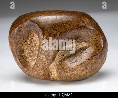 Galets de granit sculpté par le sculpteur français Jean Henninger Banque D'Images