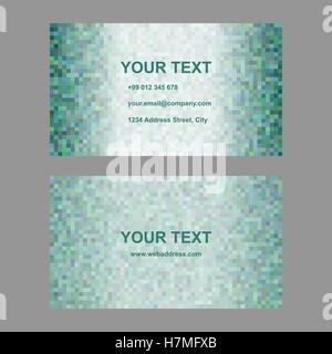 Abstract green design de carte de visite Banque D'Images