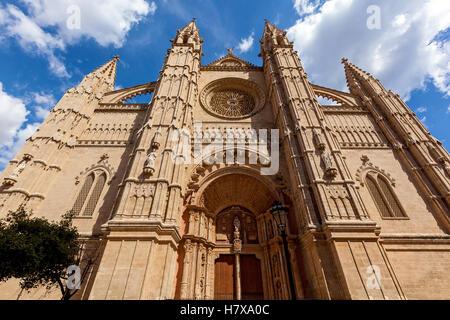 La Cathédrale de Santa Maria de Palma, La Seu est aussi une cathédrale catholique de style gothique situé à Palma, Banque D'Images