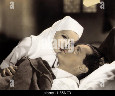Der bunte Schleier, peint (voile) USA 1934, Regie: Richard Boleslawski, GRETA GARBO, Herbert Marshall, Ausdruck: Nonne, Krankenbett